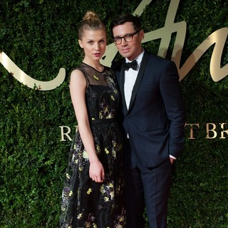 Clemence Poesy, Erdem Moralioglu in The 2013 British Fashion Awards - Arrivals
