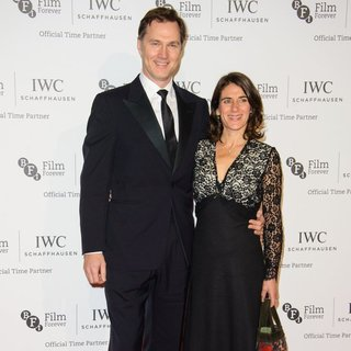 David Morrissey, Esther Freud in IWC Schaffhausen Gala Dinner for 57th BFI London Film Festival