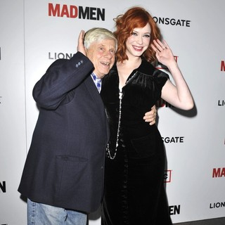 Robert Morse, Christina Hendricks in AMC's Mad Men - Season 6 Premiere