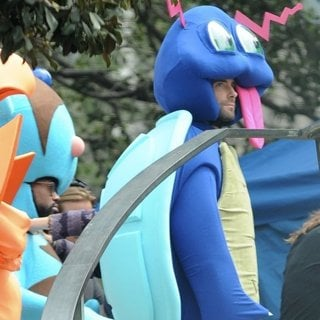 PJ Mortona and Adam Levine Dresses as A Pokemon for Maroon 5 Music Video