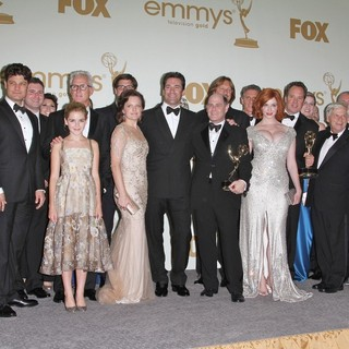 Christina Hendricks in The 63rd Primetime Emmy Awards - Press Room - moss-hamm-hendricks-63rd-primetime-emmy-awards-press-room-05