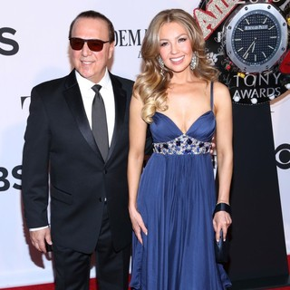 Tommy Mottola, Thalia in The 67th Annual Tony Awards - Arrivals