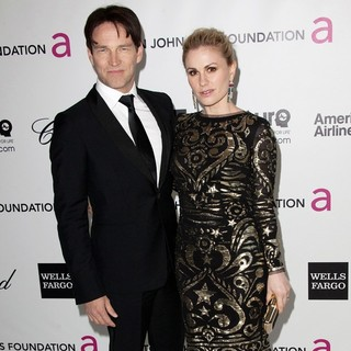 Stephen Moyer, Anna Paquin in The 20th Annual Elton John AIDS Foundation's Oscar Viewing Party - Arrivals