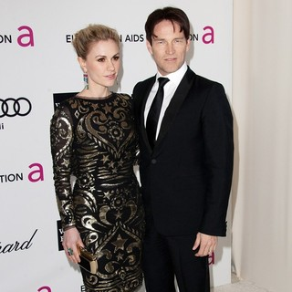 Anna Paquin, Stephen Moyer in The 20th Annual Elton John AIDS Foundation's Oscar Viewing Party - Arrivals