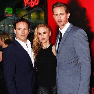 Stephen Moyer, Anna Paquin, Alexander Skarsgard in Premiere of HBO's True Blood Season 6 - Arrivals