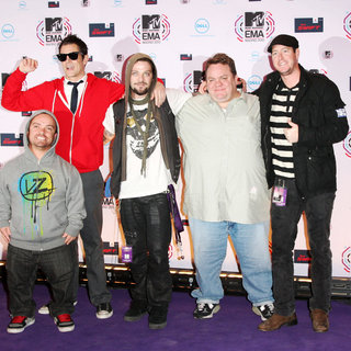 Johnny Knoxville, Bam Margera, Wee Man, Preston Lacy in MTV Europe Music Awards 2010 - Arrivals