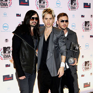 30 Seconds to Mars in MTV Europe Music Awards 2010 - Press Room