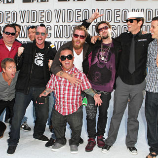 Johnny Knoxville, Bam Margera, Steve-O, Dave England, Preston Lacy, Ehren McGhehey, Ryan Dunn, Wee Man in The 2010 MTV Video Music Awards (MTV VMAs) - Arrivals