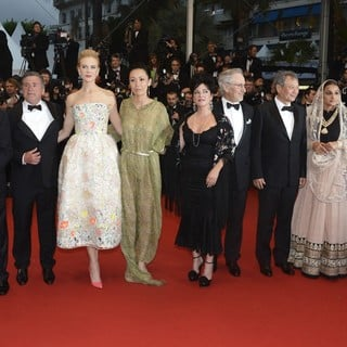 Cristian Mungiu, Daniel Auteuil, Nicole Kidman, Naomi Kawase, Lynne Ramsay, Steven Spielberg, Ang Lee, Vidya Balan, Christoph Waltz in Opening Ceremony of The 66th Cannes Film Festival - The Great Gatsby - Premiere