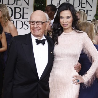 Rupert Murdoch, Wendi Deng in The 69th Annual Golden Globe Awards - Arrivals