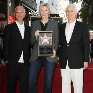 Ryan Murphy, Jane Lynch, Christopher Guest in Jane Lynch Honored on The Hollywood Walk of Fame