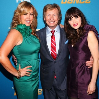 Mary Murphy, Nigel Lythgoe, Zooey Deschanel in So You Think You Can Dance Celebrates Its 200th Episode