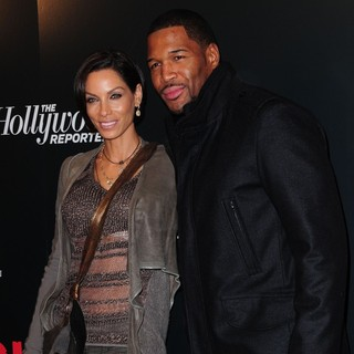 Nicole Murphy, Michael Strahan in The Premiere of Django Unchained