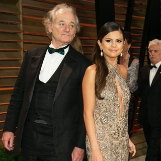 Bill Murray, Selena Gomez in 2014 Vanity Fair Oscar Party