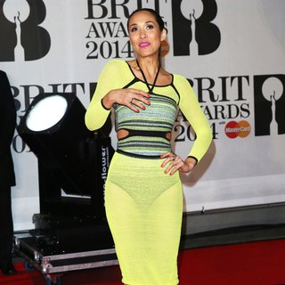 Myleene Klass in The Brit Awards 2014 - Arrivals