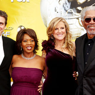 Alfre Woodard, Lori McCreary, Morgan Freeman in 41st NAACP Image Awards - Arrivals