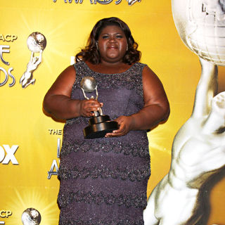 Gabourey Sidibe in 41st NAACP Image Awards - Press Room