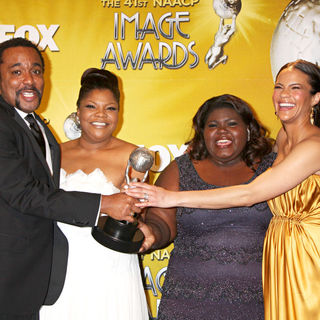 Lee Daniels, Mo'Nique, Gabourey Sidibe, Paula Patton in 41st NAACP Image Awards - Press Room