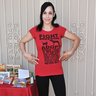 Nadya Suleman in A Photocall for Animal Rights Organization PETA to Promote Birth Control for Pets
