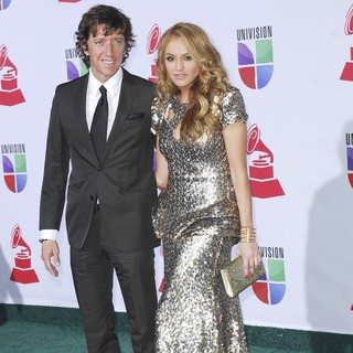 Nicolas Colate Vallejo-Nagera, Paulina Rubio in The 12th Annual Latin GRAMMY Awards - Arrivals