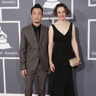 Keisuke Nakagoshi, Eva-Maria Zimmermann in 55th Annual GRAMMY Awards - Arrivals