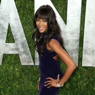 Naomi Campbell in 2013 Vanity Fair Oscar Party - Arrivals
