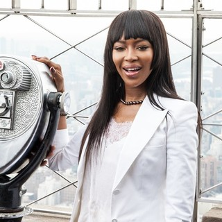 Naomi Campbell - Naomi Campbell Lights The Empire State Building Red in Honor of Red Nose Day