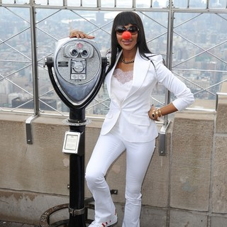 Naomi Campbell Lights The Empire State Building Red in Honor of Red Nose Day