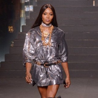 Naomi Campbell in Moschino x H and M Fashion Show - Runway