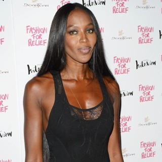Naomi Campbell - Fashion for Relief Party