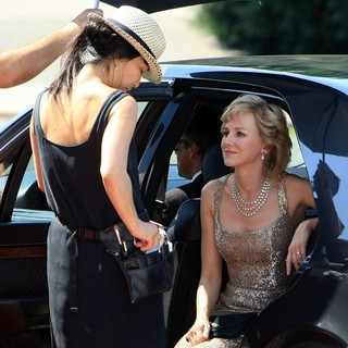 Naomi Watts in Naomi Watts Dressed as Princess Diana Shooting Caught in Flight