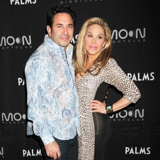 Paul Nassif, Adrienne Maloof in The Housewives of Beverly Hills Enjoy An Evening at The Palms Resort and Casino