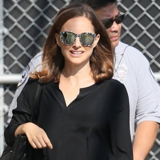 Natalie Portman-Natalie Portman Seen Arriving for Jimmy Kimmel Live!