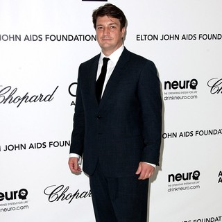 Nathan Fillion in The 20th Annual Elton John AIDS Foundation's Oscar Viewing Party - Arrivals