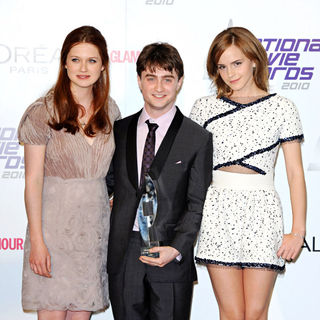 Bonnie Wright, Daniel Radcliffe, Emma Watson in National Movie Awards - Press Room