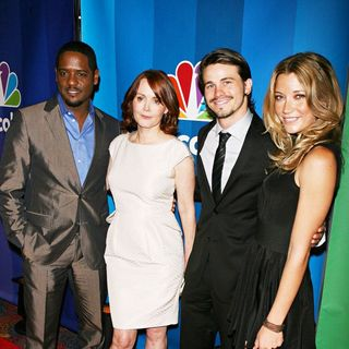 Blair Underwood, Laura Innes, Jason Ritter, Sarah Roemer in 2010 NBC Upfront Presentation