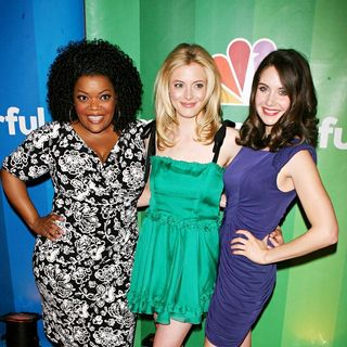 Yvette Nicole Brown, Gillian Jacobs, Alison Brie in 2010 NBC Upfront Presentation