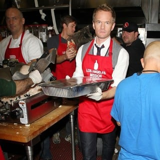 Neil Patrick Harris in The LA Mission's Annual Thanksgiving for The Homeless