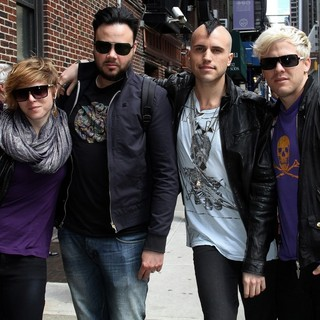 Neon Trees in Neon Trees Outside The Ed Sullivan Theater for The David Letterman Show