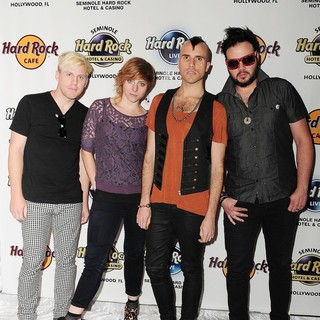 Neon Trees Donate Sign Bass Guitar Memorabilia to Hard Rock Hotel
