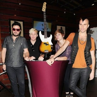 Neon Trees in Neon Trees Donate Sign Bass Guitar Memorabilia to Hard Rock Hotel