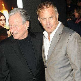 Mace Neufeld, Kevin Costner in Los Angeles Premiere of Jack Ryan: Shadow Recruit - Red Carpet Arrivals