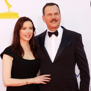 Louise Newbury, Bill Paxton in 64th Annual Primetime Emmy Awards - Arrivals