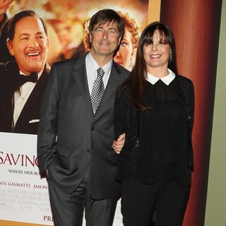 Thomas Newman, Ann Marie Zirbes in Saving Mr. Banks Los Angeles Premiere