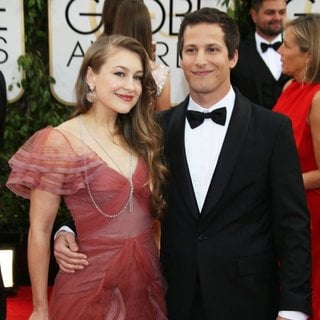 Joanna Newsom, Andy Samberg in 71st Annual Golden Globe Awards - Arrivals