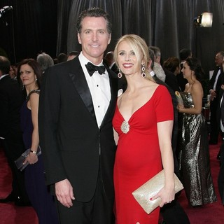 Gavin Newsom, Jennifer Siebel in The 85th Annual Oscars - Red Carpet Arrivals