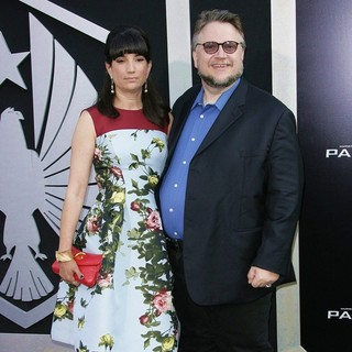 Lorenza Newton, Guillermo del Toro in Los Angeles Premiere of Pacific Rim