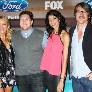 Becki Newton, Nate Torrence, Meera Rohit Kumbhani, Zachary Knighton in American Idol XIV Finalists Party - Arrivals