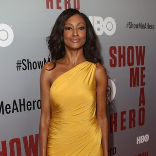 Nichole Galicia in New York Premiere of HBO's Show Me a Hero - Red Carpet Arrivals
