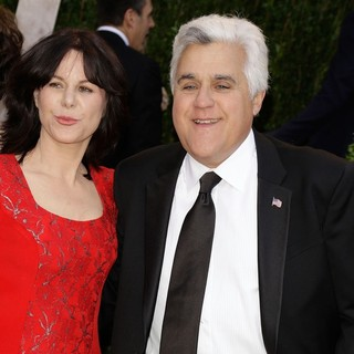 Mavis Nicholson, Jay Leno in 2013 Vanity Fair Oscar Party - Arrivals